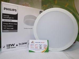 Đèn Downlight Led Philips DN027C 23w lắp nổi