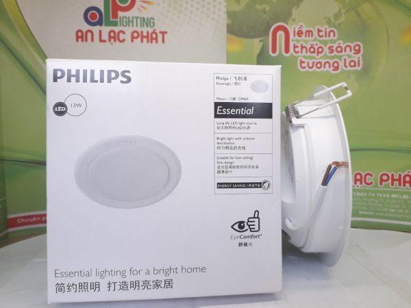 Đèn Led Âm Trần Philips 13W lỗ cắt 125mm ánh sáng đồng đều mặt ngang