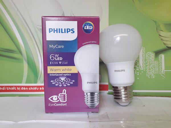 đèn led bulb Philips Mycare 6w