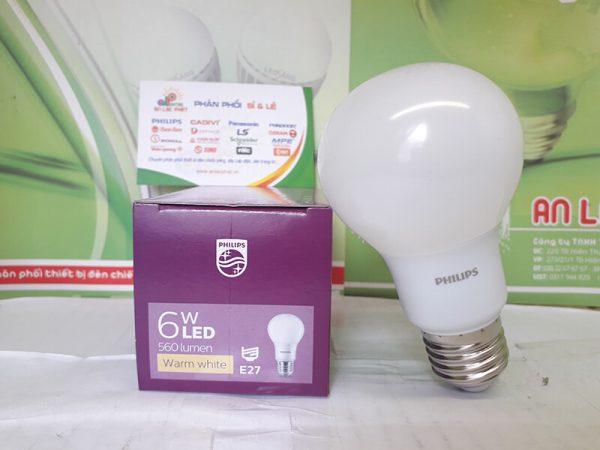 đèn led bulb Philips Mycare 6w ánh sáng tinh tế