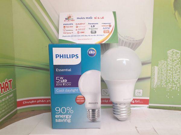 bóng led tròn Philips Essential 5w