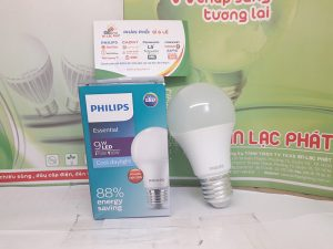 bóng led tròn Philips essential 9w