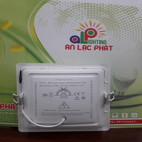 đèn led âm trần dáng vuông Marcasite Philips mỏng 29mm