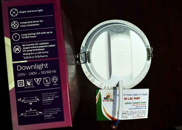 Đèn Downlight Philips 9w Meson 59449 lỗ cắt 105mm