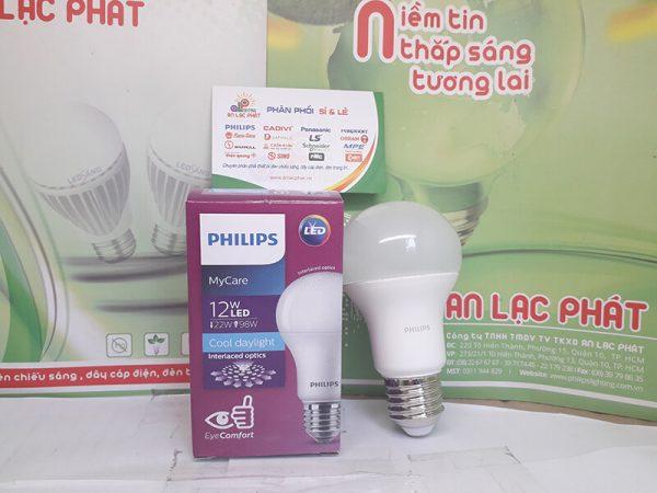 bóng đèn led bulb Philips Mycare 12w giá tốt