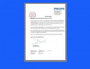 thư xác nhận nhà phân phối đèn led philips 2017