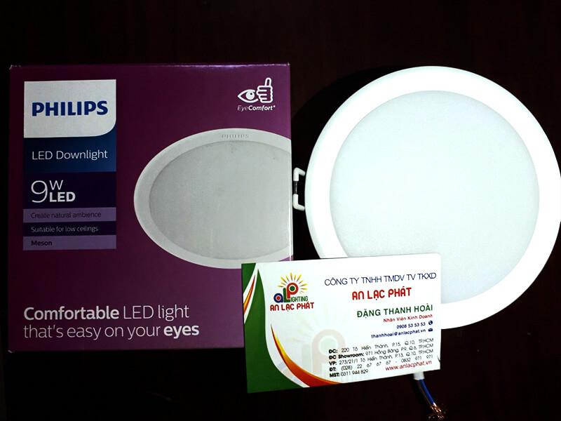 Đèn led âm trần 9W Philips là giải pháp chiếu sáng tối ưu và mang tính thẩm mỹ cao